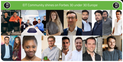 EIT Community shines on Forbes 30 under 30 Europe list