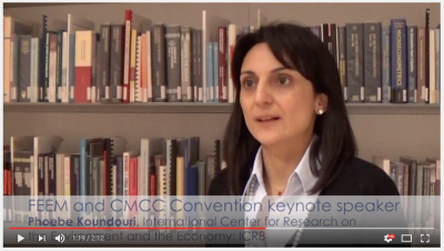 FEEM and CMCC convention 2014 - Keynotes address