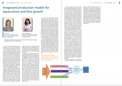 "New ICRE8 article on ""Integrated production models for aquaculture and blue growth"""