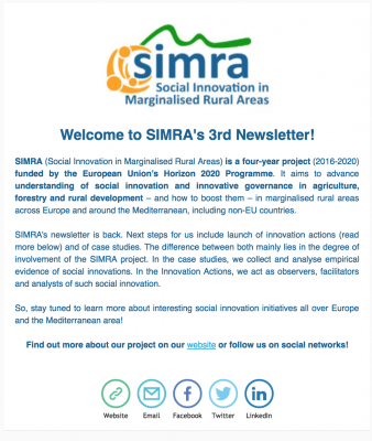 SIMRA - Newsletter #3 - October 2017