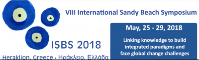 ISBS 2018 International Sandy Beaches Symposium, May 2018, Crete, GR