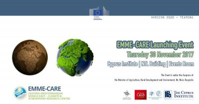 "Professor Koundouri delivers speech at the ""EMME-CARE"" launch event in Cyprus"